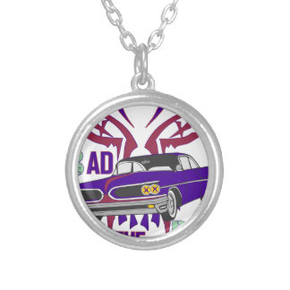 bad to the bone silver plated necklace