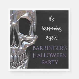 Bad to the Bone Skull Party Napkin Paper Napkins
