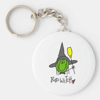 Bad Witch Basic Round Button Keychain