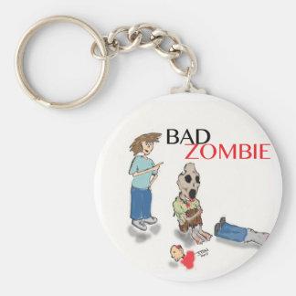 Bad Zombie Keychain
