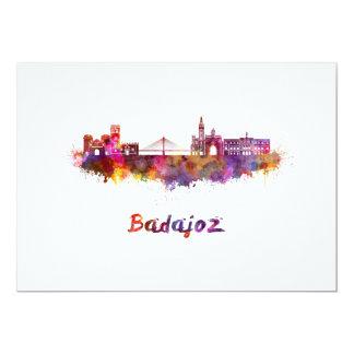 Badajoz skyline in watercolor card