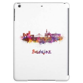 Badajoz skyline in watercolor iPad air cover