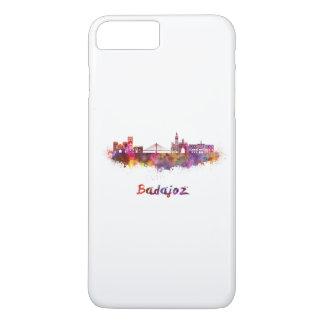 Badajoz skyline in watercolor iPhone 7 plus case