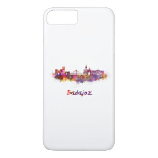 Badajoz skyline in watercolor iPhone 8 plus/7 plus case