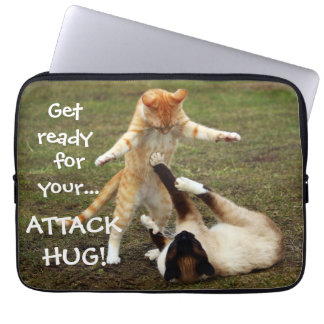 Badass Cats - Attack hug Laptop Sleeve
