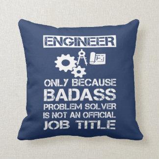 Badass Engineer Throw Pillow