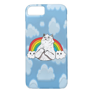 Badass Rainbow Cat in the Clouds Case-Mate iPhone Case
