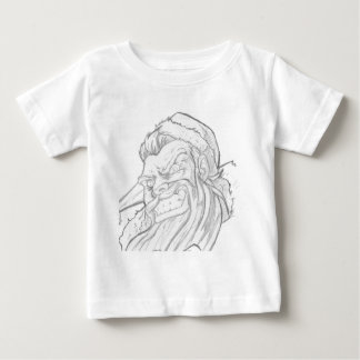 Badass Santa Claus with an evil smile Baby T-Shirt
