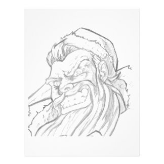 Badass Santa Claus with an evil smile Personalized Letterhead