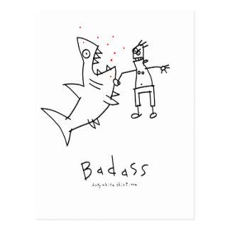 Badass Shark Punch Postcard