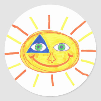 Badass Sun Classic Round Sticker