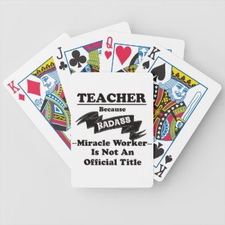 Badass Teacher Bicycle Playing Cards
