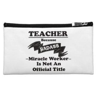 Badass Teacher Cosmetic Bag