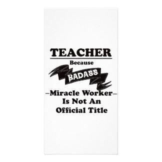 Badass Teacher Photo Greeting Card