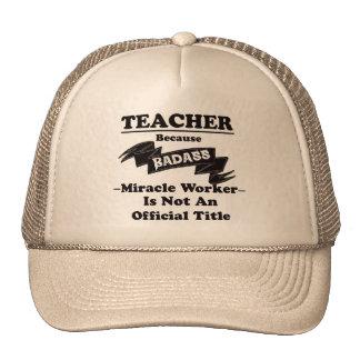 Badass Teacher Trucker Hat