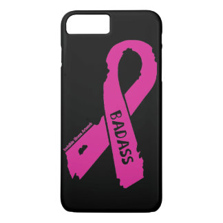 Badass/ torn ribbon...Breast Cancer iPhone 8 Plus/7 Plus Case