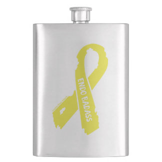 Badass/ torn ribbon...Endometriosis Hip Flask