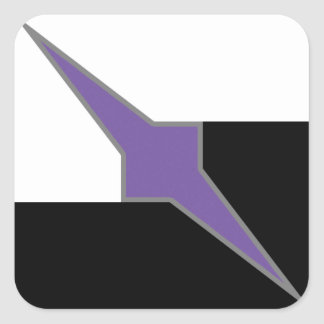 BADATGAMING Logo w/ purple insides Square Sticker