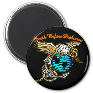 Badazz Eagle Death Before Dishonor 2 Inch Round Magnet