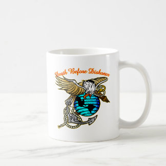Badazz Eagle Death Before Dishonor Coffee Mug