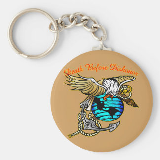 Badazz Eagle Death Before Dishonor Keychain