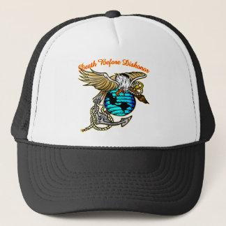 Badazz Eagle Death Before Dishonor Trucker Hat