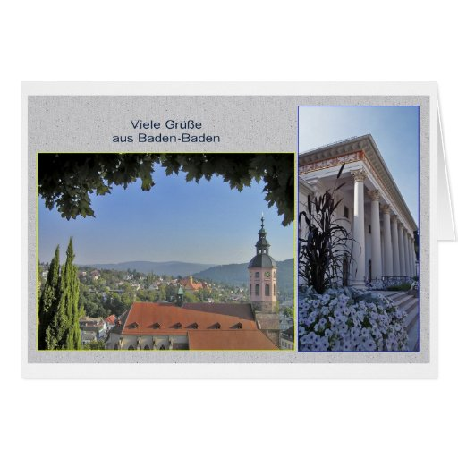 Baden-Baden greeting map Cards