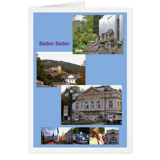 Baden-Baden greeting map Card
