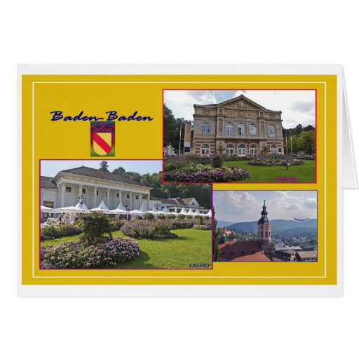 Baden-Baden picture postcard Greeting Cards