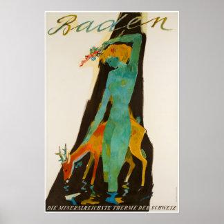 Baden, Die mineralreichste therme des Schweiz, Poster