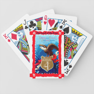 Badge and bald eagle bicycle playing cards