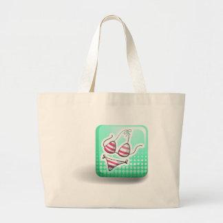 Badge and bikini jumbo tote bag