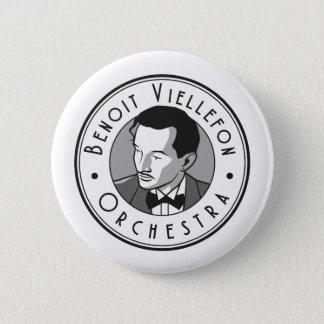 Badge - Benoit Viellefon His Orchestra (B&W) 2 Inch Round Button