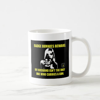 Badge Bunnies Beware Coffee Mug