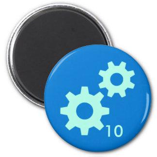 Badge Magnet - Gears 10