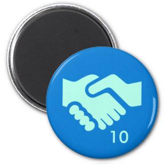 Badge Magnet - Handshake 10