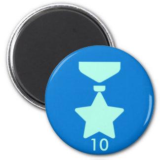 Badge Magnet - Medal 10