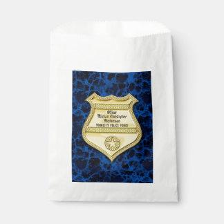 Badge Marble Police Graduation/Retirement Party Favour Bag