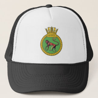 Badge of HMS Artful Trucker Hat