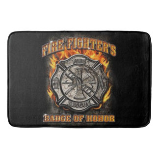 Badge Of Honor Bath Mat