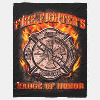 Badge Of Honor Fleece Blanket