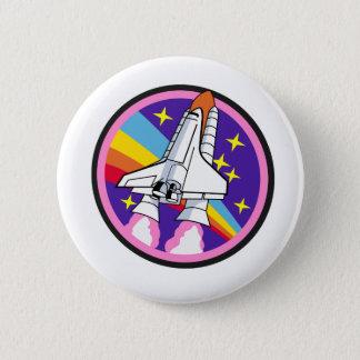 badge patch pink rainbow rocket 2 inch round button