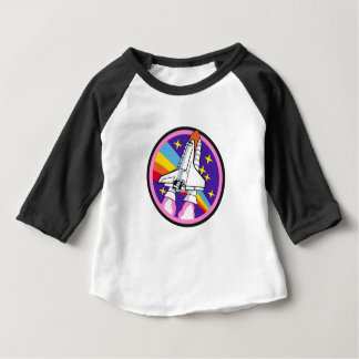 badge patch pink rainbow rocket baby T-Shirt