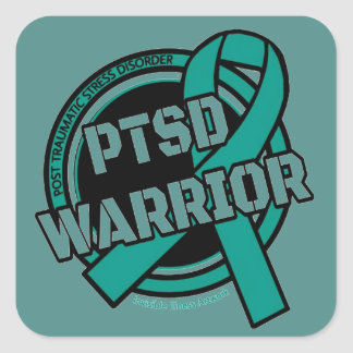 Badge...PTSD Square Sticker