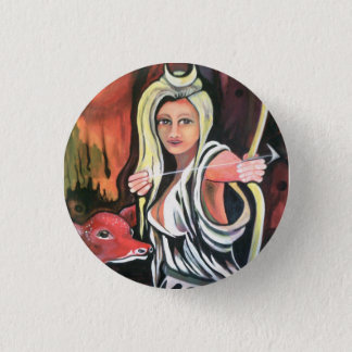 Badge: the Hunteress. 1 Inch Round Button