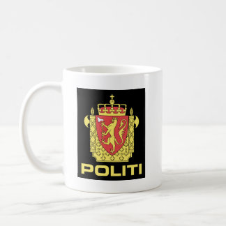 Badge the Norwegian Police Service, Norway Coffee Mug