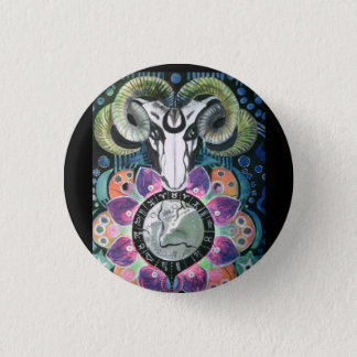 Badge:  Wicca Ram. 1 Inch Round Button
