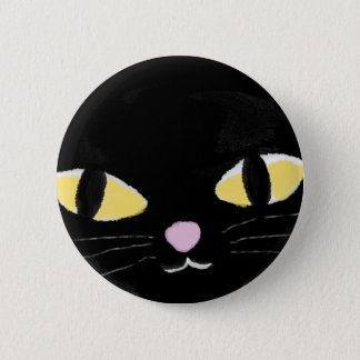 Badge with cat's eyes. 2 inch round button