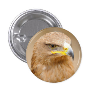 Badge with Golden Eagle 1 Inch Round Button
