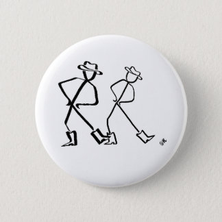 Badge with Line dancers 2 Inch Round Button